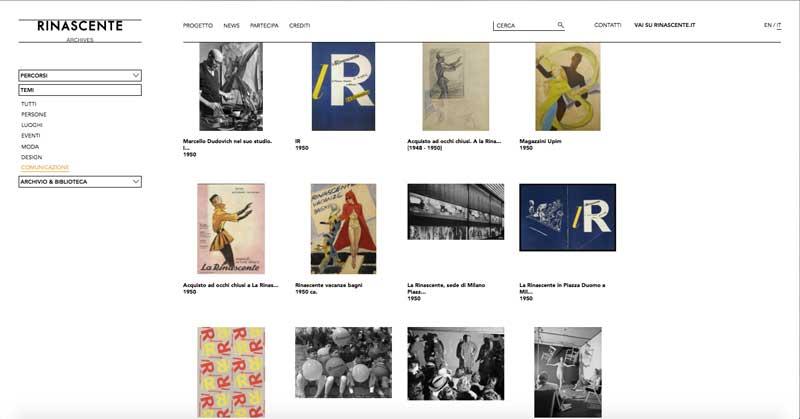 Memoria & progetto - Archivio de la Rinascente